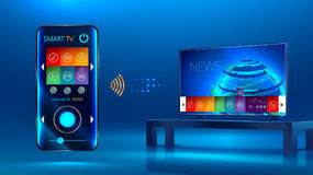 Smart Fernsehapparat Stockfotografie