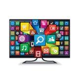 Smart Fernsehen Appliacations Stockbilder