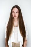 Smart flicka med långt hår Royaltyfria Foton