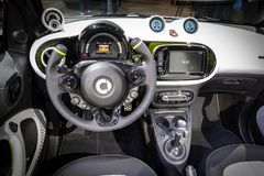 Smart Forease all electric compact car. PARIS - OCT 2, 2018: Smart Forease all electric compact car debut at the Paris Motor Show stock photography