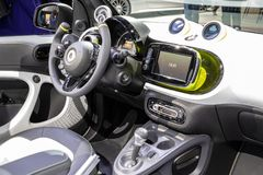 Smart Forease all electric compact car. PARIS - OCT 2, 2018: Smart Forease all electric compact car debut at the Paris Motor Show stock image