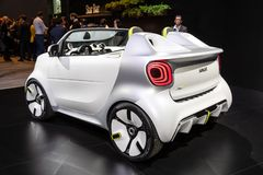 Smart Forease all electric compact car. PARIS - OCT 2, 2018: Smart Forease all electric compact car debut at the Paris Motor Show stock images