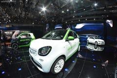 Smart ForFour elektriskt drev Royaltyfria Foton