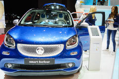 Smart Forfour, Motor Show Geneva 2015. Royalty Free Stock Photography