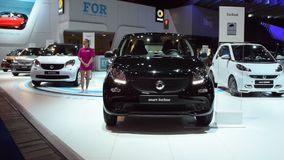 Smart ForFour and Smart ForTwo compact cars stock video