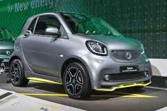 Smart Fortwo Brabus Edition Asphaltgold. Frankfurt-September 20: Smart Fortwo Brabus Edition Asphaltgold  at the Frankfurt International Motor Show on September Royalty Free Stock Photos