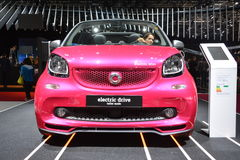 Smart ForTwo Cabrio Electric Drive. New Smart ForTwo CabrioW453 at Paris Motorshow royalty free stock image