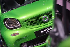 Smart ForTwo Cabrio Electric Drive. New Smart ForTwo CabrioW453 at Paris Motorshow royalty free stock photography