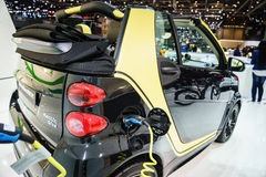 Smart Fortwo edition MOSCOT, Motor Show Geneve 2015. Stock Images