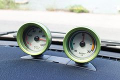 Smart fortwo electric drive dashboard Stock Image