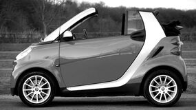 Smart Fortwo on Park Stock Photos