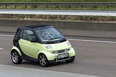 Smart Fortwo on the road Royalty Free Stock Image