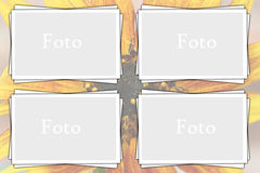Smart foto frame. Frame for your images and photo Stock Photo