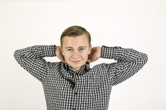 Smart friendly looking teenage boy Stock Images