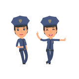 Smart and Funny Character Constabulary leaned against the wall a Stock Photography