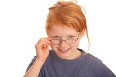 Smart and funny girl Stock Photos