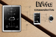 Smart gadgets data communication illustration Stock Image