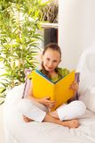 Smart girl with book royalty free stock images