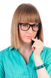 Smart girl with glasses Stock Photos