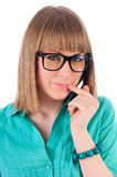 Smart girl with glasses Royalty Free Stock Photography