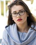 Smart girl portrait Stock Images
