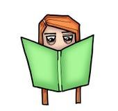 Smart girl reading a book Stock Photo
