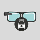 Smart glasses connected bottle capsule Royalty Free Stock Photography