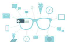 Smart glasses Stock Photography