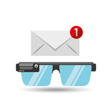 Smart glasses news receiver graphic Stock Image