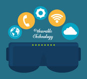 Smart glasses wearable technology icon image Stock Image