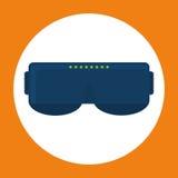 Smart glasses wearable technology icon image Stock Photo