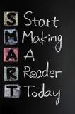 Smart goal concept acronym Stock Image