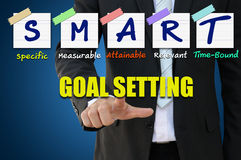 Smart Goal Setting for business concept Stock Photo