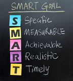 Smart goal setting concept Stock Image