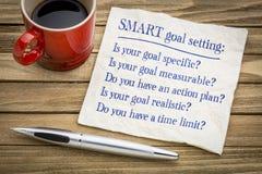 SMART goal setting - napkin concept stock images
