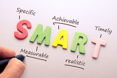 Smart Goal setting Stock Photo
