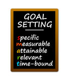 Smart goals. Setting your goals in a smart way stock illustration