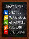 Smart goals on blackboard Stock Photo