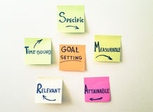 Smart goals corporate paper stickers Stock Photography