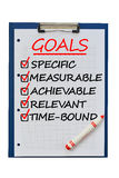 Smart goals definition to achieve business plan targets Stock Photo