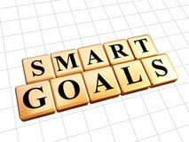 Smart goals in golden cubes Royalty Free Stock Images