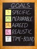 SMART Goals principle Royalty Free Stock Photos