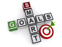 Smart goals sign on a white background Stock Photo