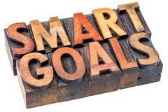 Smart goals in vintage wood type Stock Images