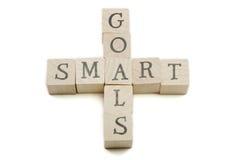 SMART Goals on wooden blocks Royalty Free Stock Photo