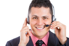 A smart good looking young call center agent Royalty Free Stock Photography