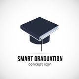 Smart Graduation Vector Concept Icon Symbol or Stock Photo