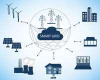 Smart Grid concept royalty free illustration