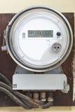 Smart grid residential digital power meter. With digital display working Stock Image