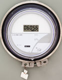 Smart grid residential digital power supply meter Royalty Free Stock Photos
